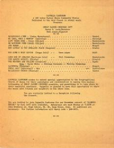 Great Sacred Choruses, May 15 & 22, 1977, program