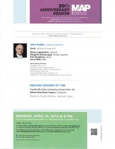 Verdi Requiem, Carnegie Hall, April 15, 2013