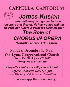 James Kuslan The Role of Chorus in Opera poster