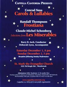 Carols-Frostiana Poster