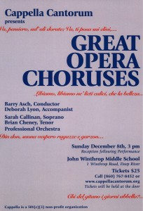 Great Opera Choruses poster