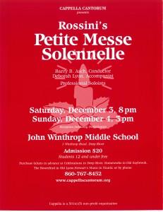 MasterWorks Chorus, Rossini Petite Messe Solennelle, December 3 & 4, 2011