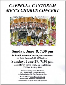 Men's Chorus Concerts June 2014 Poster with drawing