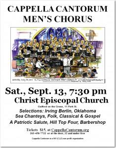 Men's Chorus Poster, Guilford 2014