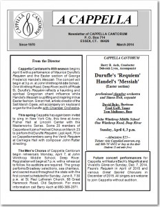 Newsletter cover March 2014
