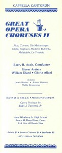 Great Opera Choruses II, March 26 & 27, 1983 poster
