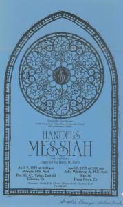 Handel MESSIAH, April 7 & 8, 1979