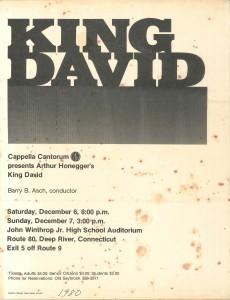 Honegger KING DAVID, December 6 & 7, 1980