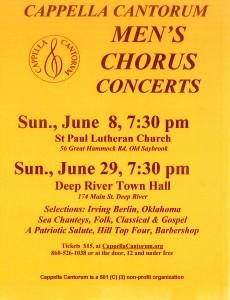 Men's Chorus Concerts-June 2014
