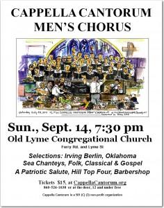 Men's Chorus Poster, Old Lyme 2014