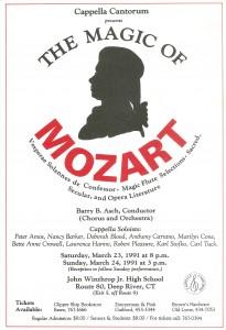 Mozart Vesperae Solennes de Confessor & Magic Flute Selections