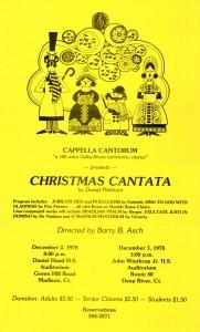 Pinkham Christmas Cantata, December 2 & 3, 1978