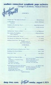 Symphonic Pops, August 5, 1979 program inside